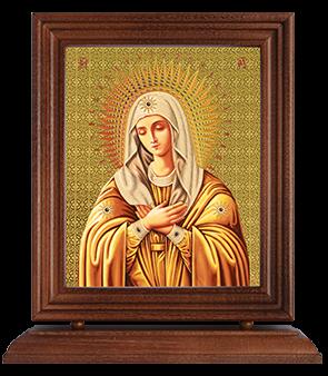 Икона в деревянной рамке на подставке 13х16 см
