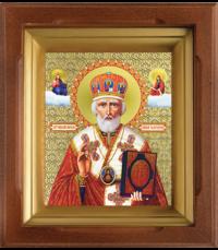 Икона Св. Николай Чудотворец в киоте