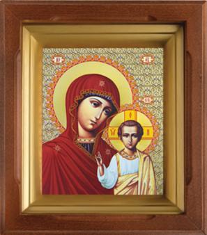Икона Казанская Б.М. в киоте